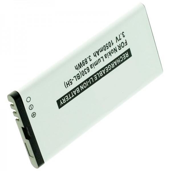 Batteri passer til Nokia Lumia 630 batteri, Lumia 635, BL-5H med 1050mAh