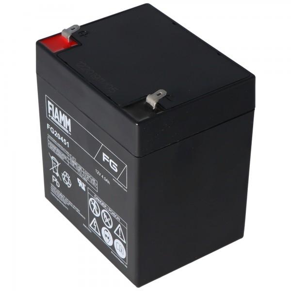 Fiamm FG20451 genopladeligt batteri 4.5Ah 12 volt blybatteri