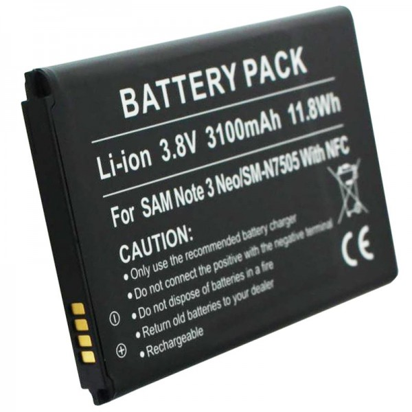 Samsung Galaxy Note 3 Neo batteri SM-N7505 som et replikabatteri med NFC