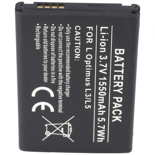 AccuCell batteri passer til LG Optimus L3, Optimus L3 Dual