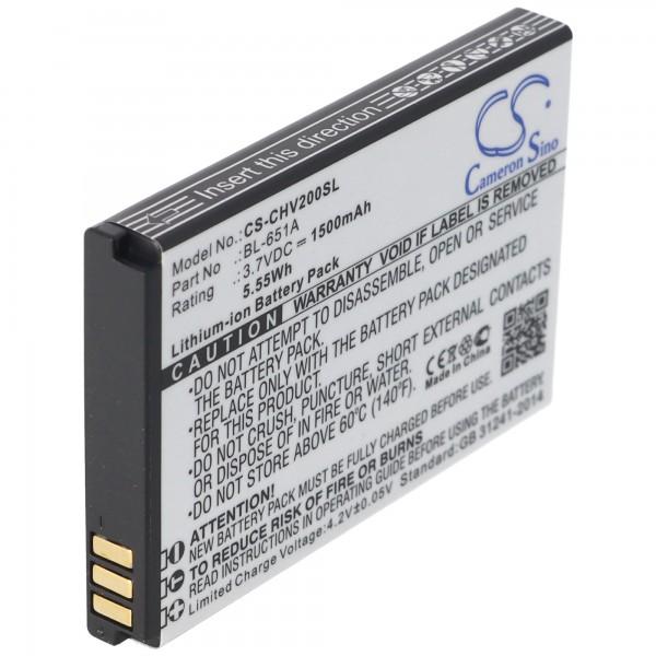 Batteri passer til CrossCall Shark V2 batteri BL-651A med 1100mAh