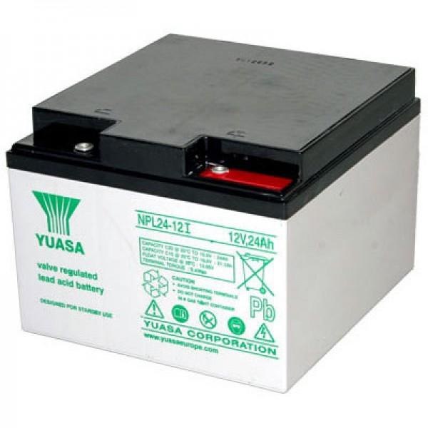 Yuasa NPL24-12i PB blybatteri, M5 forsænket skrueforbindelse