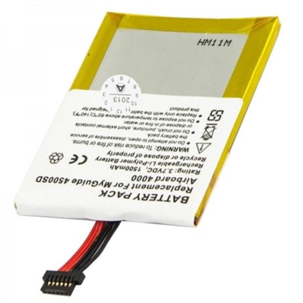 AccuCell batteri passer til Typhoon MyGuide 4000, 1500mAh