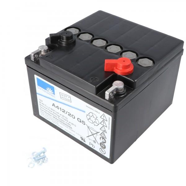 Sunshine Dryfit A412 / 20G5 Batterieledning PB 12Volt 20Ah