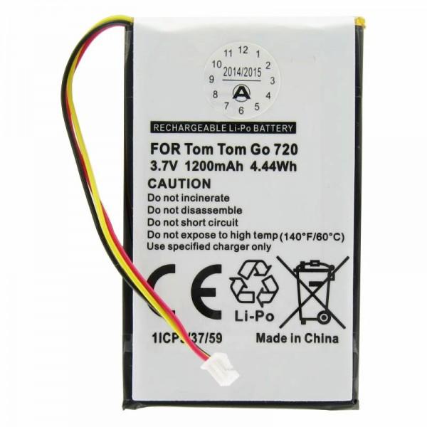 Batteri passer til TomTom Go530, Go630, GO720, Go730, Go740