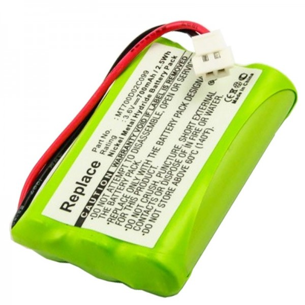 AccuCell batteri passer til PHILIPS CEPTF BABYFON, babyfone CEPT F