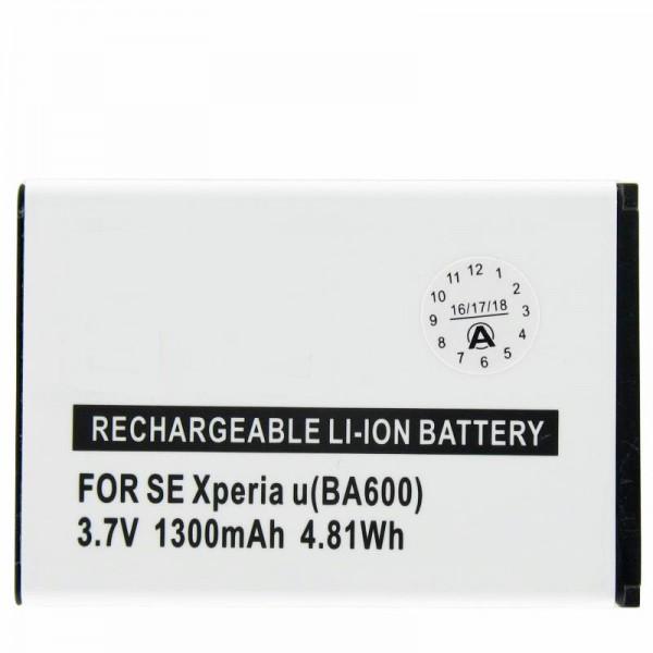 AccuCell batteri passer til Sony Ericsson ST25i, Xperia U, BA600