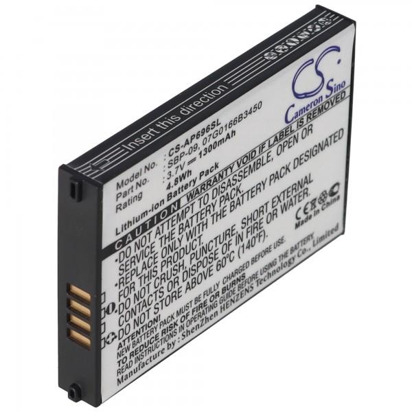 AccuCell batteri passer til ASUS MyPal SBP-09 batteri