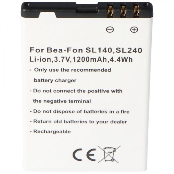 Batteri passer til mobiltelefonbatteriet Bea-Fon SL140, SL240 batteri SL140