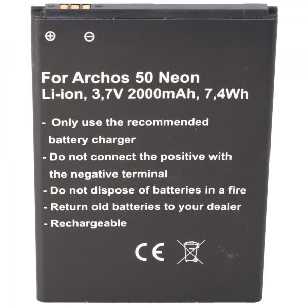 Batteri passer til Archos AC50NE batteri Archos 50 Neon