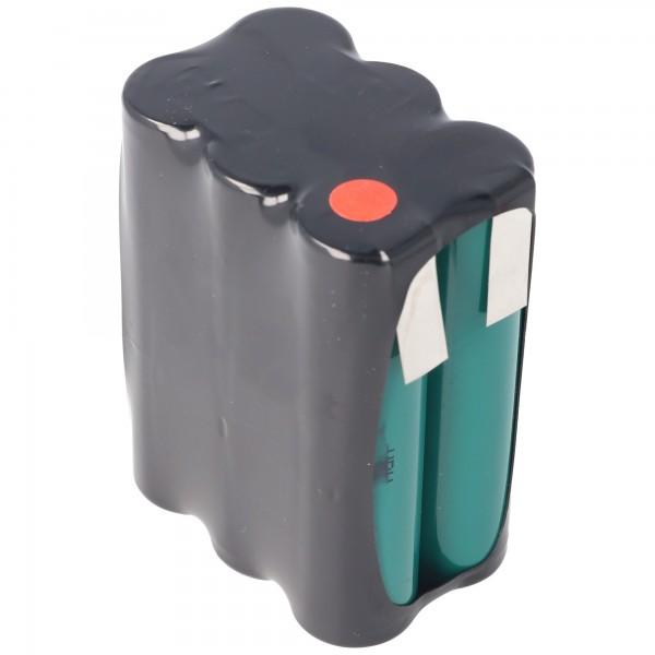 7,2 Volt Batteripakke F2x3 Arrangement 4000mAh NiMH HR-4 / 3AU 51 x 17 x 67mm