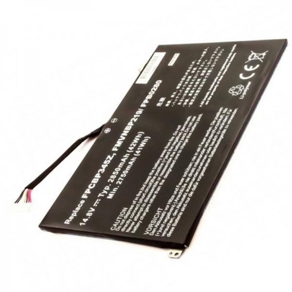 Batteri passer til Fujitsu batteri FMVNBP219, FPB0280, FPCBP345Z