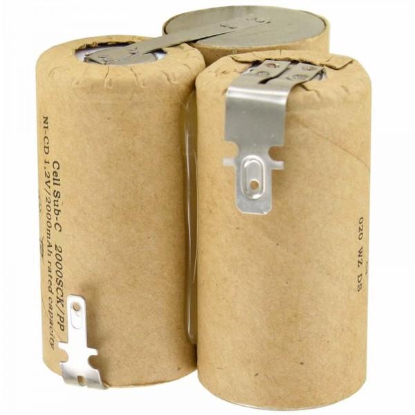AccuCell batteri passer til Wolf Accu 60 type 7084680 3,6 Volt NiMH batteri