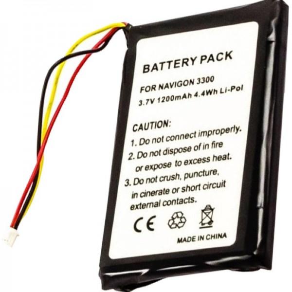 AccuCell batteri passer til Navigon 3300, 3310, 3310 MAXE, 4310,