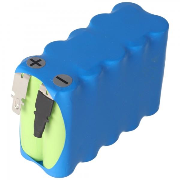 Batteri til automatiske døre 12 Volt 900mAh NiCD med 4,8 mm stikkontakter