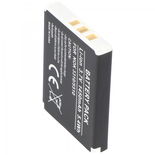 AccuCell batteri passer til Nokia 3330 batteri med 1450mAh