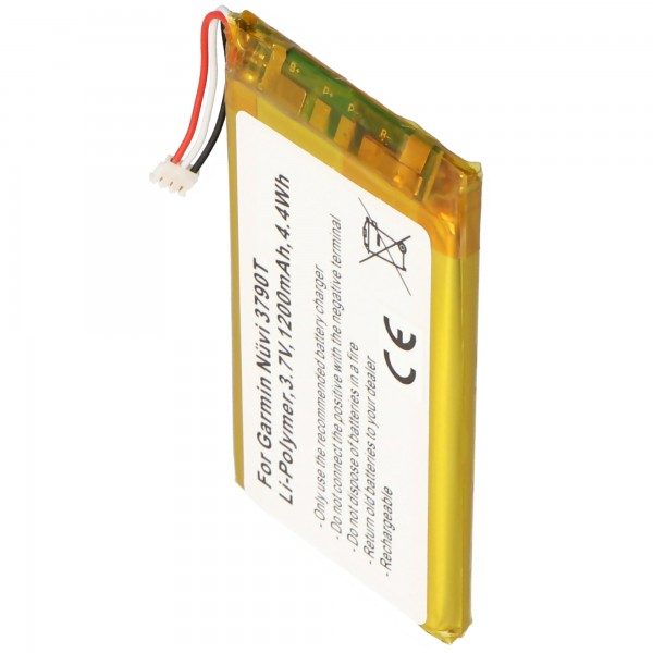 AccuCell batteri passer til Garmin Nuvi 3700 batteri 361-00046-02, 361-00064-02