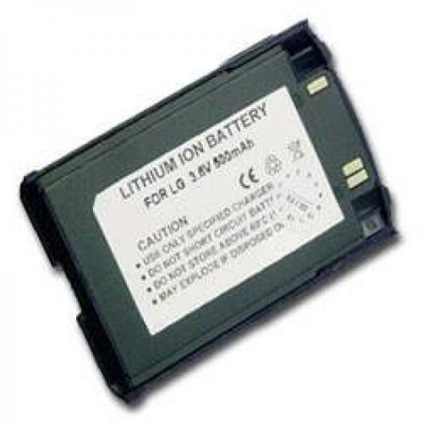 AccuCell batteri passer til LG 510W, 500mAh mørk blå