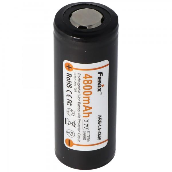 Fenix ARB-L4-4800 26650 Li-ion batteri beskyttet 3.7 volt med 4800mAh