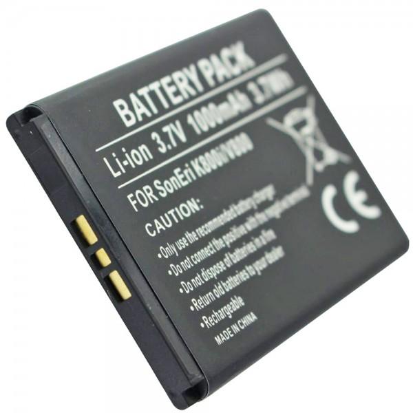 AccuCell batteri passer til Sony Ericsson P1i, 500mAh
