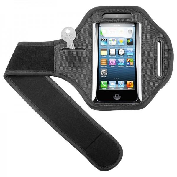 Sportsbag passer til din Apple iPhone 5, 5C, 5S med velcrorem til jogging og fitness