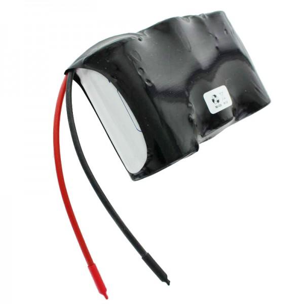 Batteri til nødbelysning, 3,6 Volt 4000mAh, dimensioner ca. 96,9mm x 32,3mm x 60,3mm