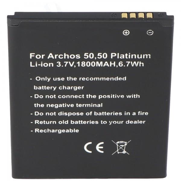 Batteri passer til Archos 50, 50 Platinum batteri AC50PL