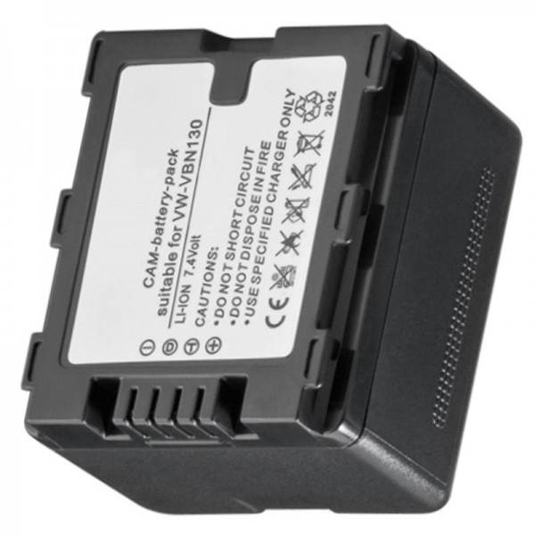 Batteri passer til VW-VBN130, VBN-260, HDC-TM900, -HS900, -SD900