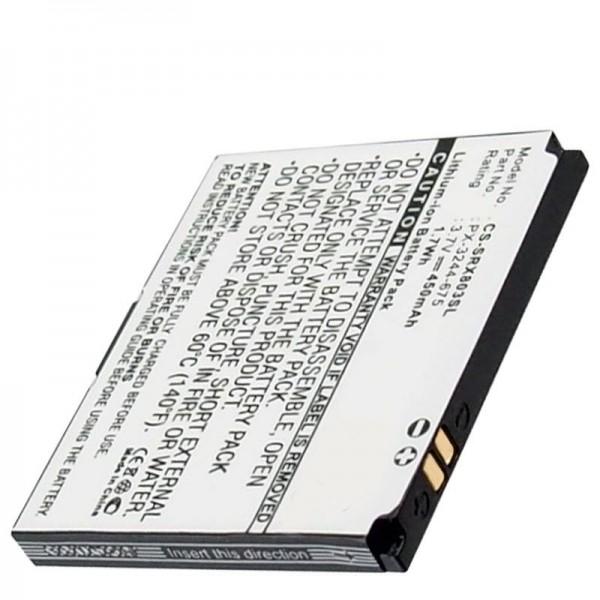Batteri passer til Simvalley Pico RX-80, RX-180 mobiltelefon batteri PICTURE mini mobiltelefon