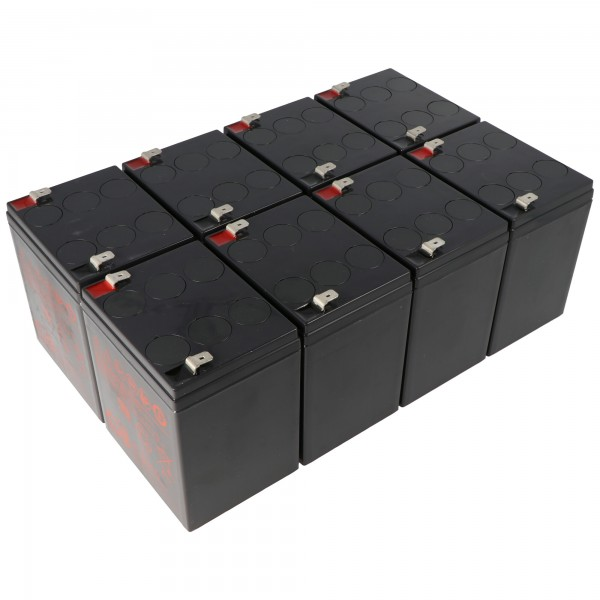 Udskiftning batteri passer til APC RBC43 batteri pakke bestående af 8 batterier