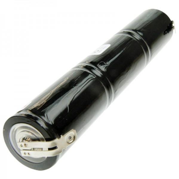 Batteri til nødbelysning, nødbelysning 3.6 volt, 4000mAh med 6,3mm og 4,8mm kontakt