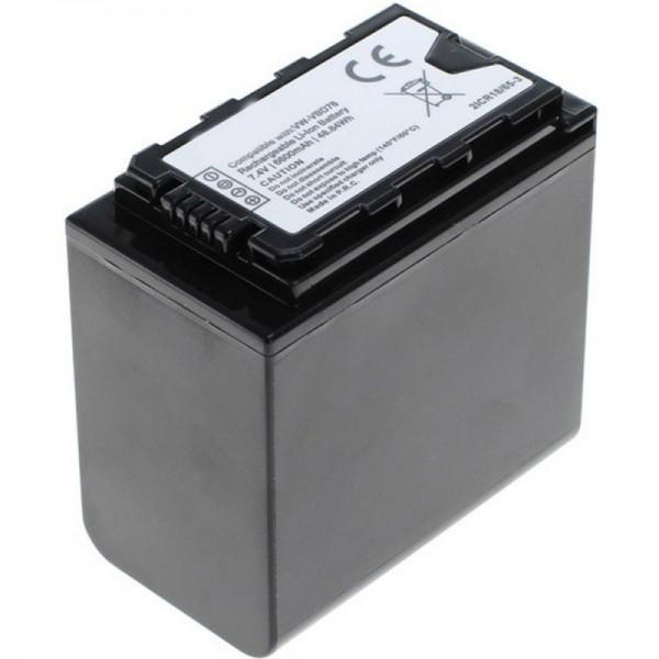 VW-VBD78 batteri til Panasonic HC-X1000 med batteriniveauindikator VW-VBD78