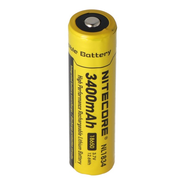 Nitecore Li-ion batteri type 18650 med 3400mAh NL1834 69.4x18.3mm med beskyttelseskreds