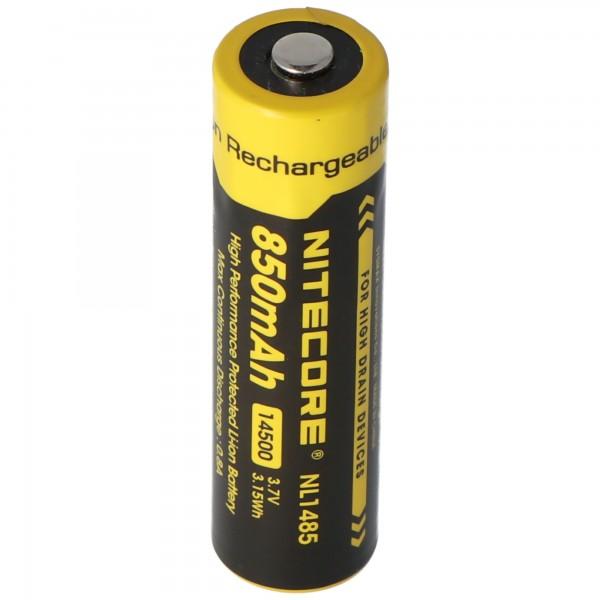Nitecore 14500 - 750mAh, 3.6V - 3.7V NL147 Li-Ion Batteri