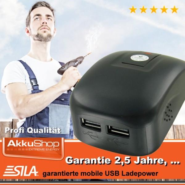 SILA USB Strømværktøj Adapter 2-bånd egnet til Dewalt DCB120, DCB121