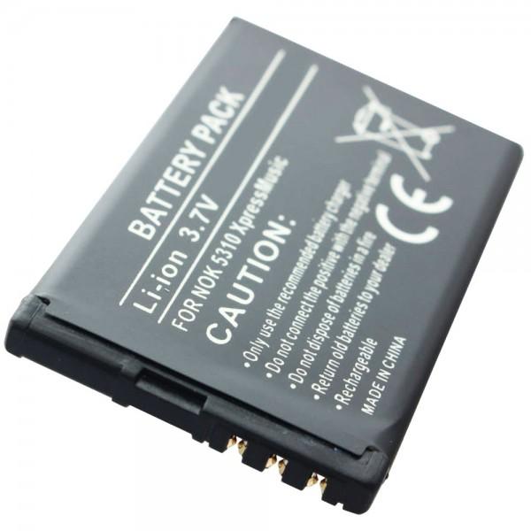 AccuCell batteri passer til Nokia BL-4CT batteri Nokia 7310, 7230, 7210