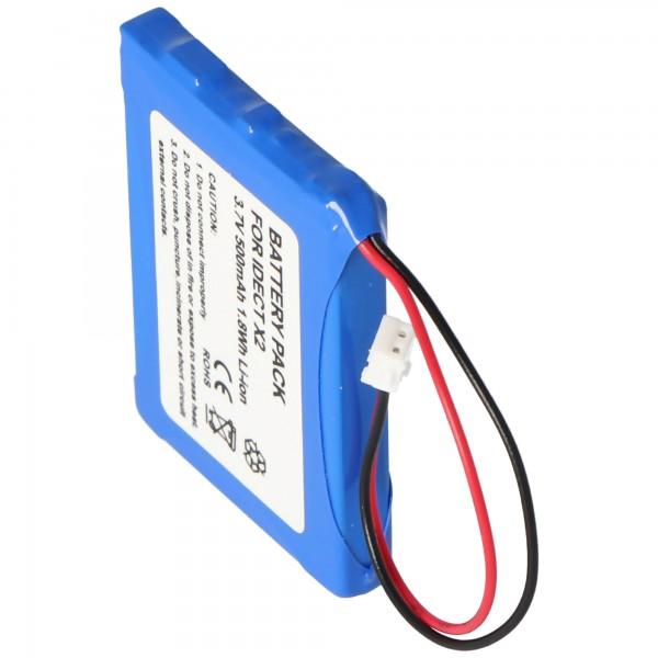 AccuCell batteri passer til BINATONE iDect M1, iDect M2, iDect X