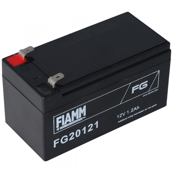Fiamm FG20121 Batteri 1200mAh blybatteri 12 volt med 1200mAh, 2 gange 4,8mm stik kontakter