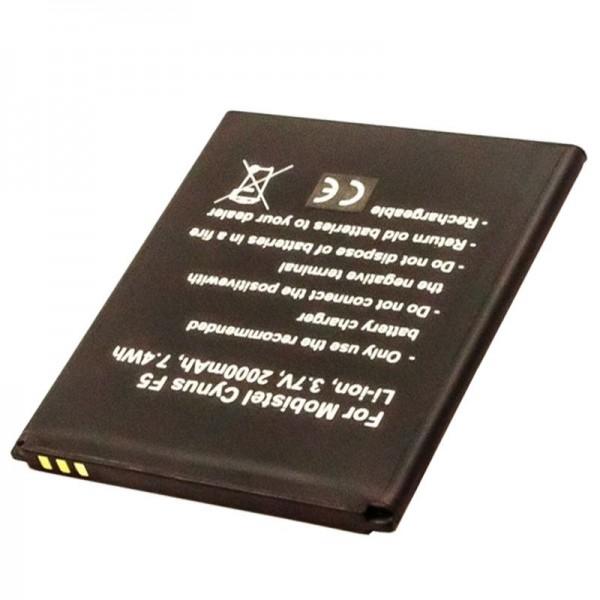 Batteri passer til Mobistel Cynus F5 batteri BTY26184, MT-8201B, MT-8201S, MT-8201W, 2000mAh
