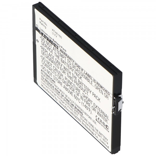AccuCell batteri passer til HTC X7500, P / N ATHE160, 2200mAh