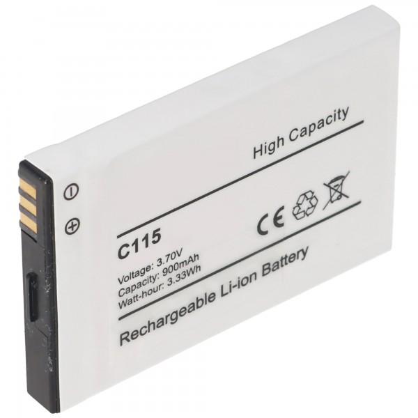 AccuCell batteri passer til Motorola C115, C116, C155, Tchibo 202