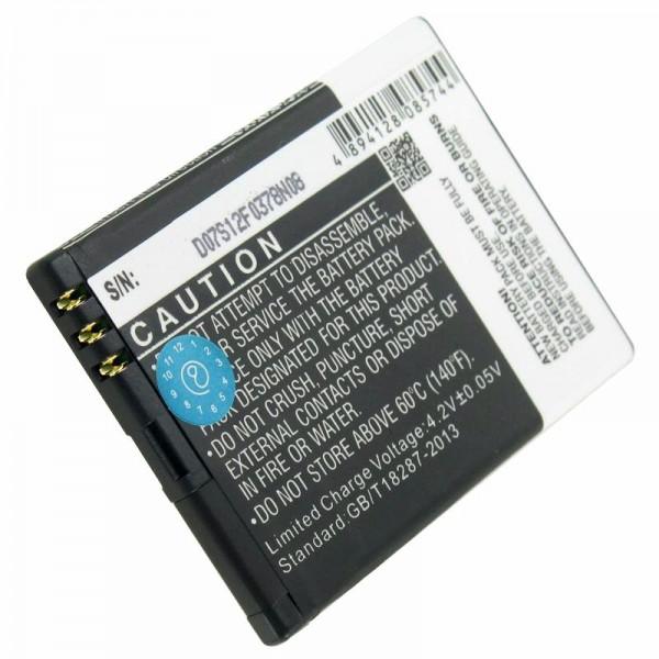 Batteri passer til Doro Primo 571, batteri HZTBL-4D-01, RCB571 batteri 3.7 volt