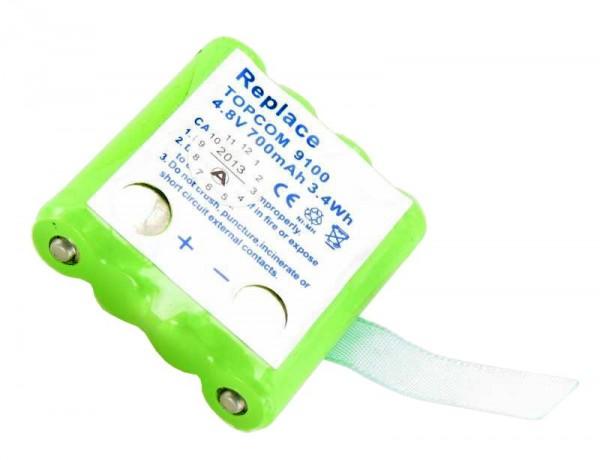 AccuCell batteri passer til Topcom Twintalker 9100 batteri TT9100, men ingen kontakt på bagsiden! Vær derfor altid nødt til at B