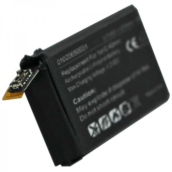 Batteri passer til Apple iWatch 42mm 1st generation Li-Polymer batteri A1579, A1554, iWatch 1st G 42mm, 3.8V 273mAh med 1Wh