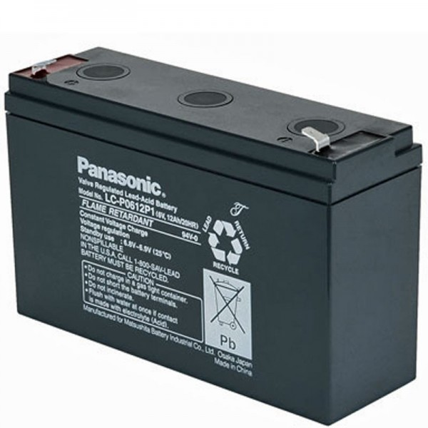 Panasonic LC-R0612P PB Lederbatteri 6 Volt, 12 Ah