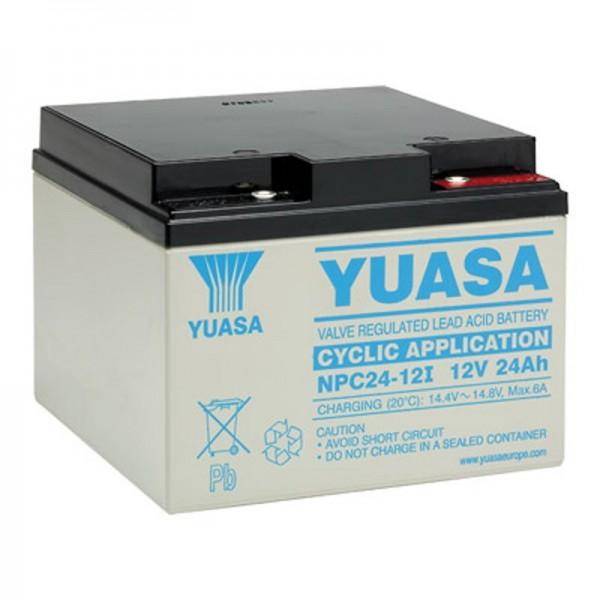 Yuasa NPC24-12I blybatteri-sikret 12 volt, 24Ah