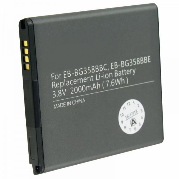 Batteri passer til Samsung Galaxy Core Prime, SM-G360F, EB-BG358BB 1800mAh