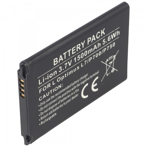 AccuCell batteri passer til LG Optimus L7, Optimus P700, BL-44JH