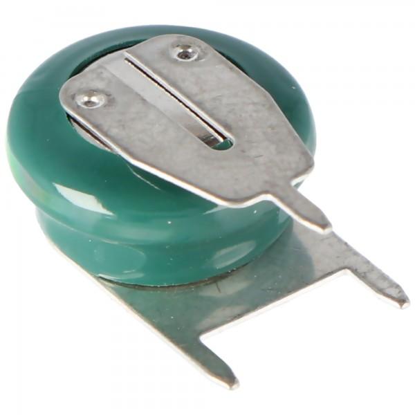Varta V40H NiMH batteri 55604, møntcelle MH 13654 med 3 pin