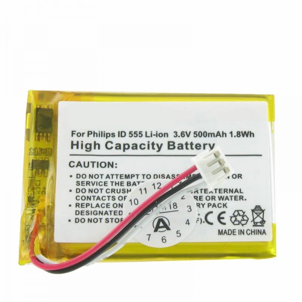 AccuCell batteri passer til batteriet PHILIPS ID 555 Battery SL-422943